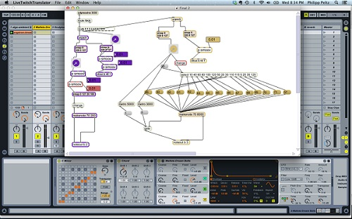 Ableton MAX/MSP Screenshot